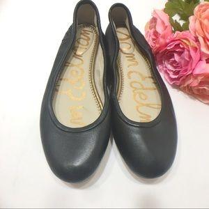 SAM EDELMAN Fritz Black Leather Ballet Flats